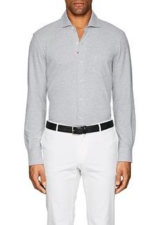 Isaia Men's Cotton Piqué Shirt
