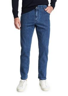 Isaia Men's Dark Wash Straight-Leg Jeans