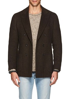 Isaia Men's Dustin Yak Wool Double-Breasted Sportcoat