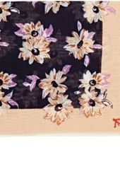 Isaia Men's Floral-Print Cotton-Silk Pocket Square