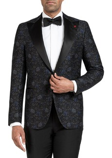 Isaia Men's Floral-Print Dinner Jacket