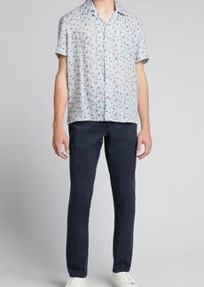 Isaia Men's Floral Short-Sleeve Sport Shirt
