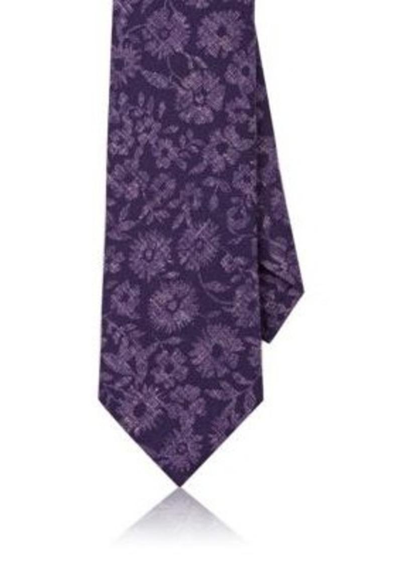 Isaia Men's Floral Wool Necktie
