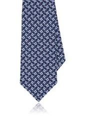 Isaia Men's Geometric-Print Cotton-Silk Necktie