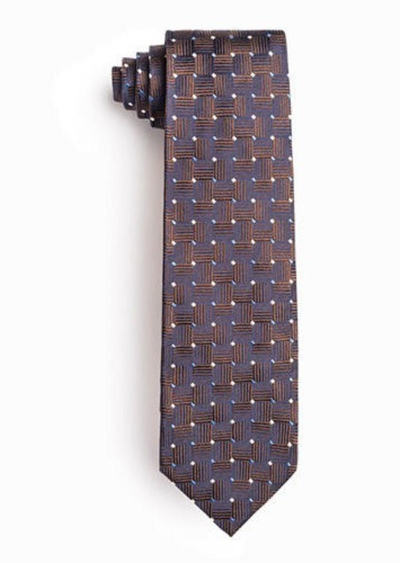 Isaia Men's Geometric Squares Silk Tie