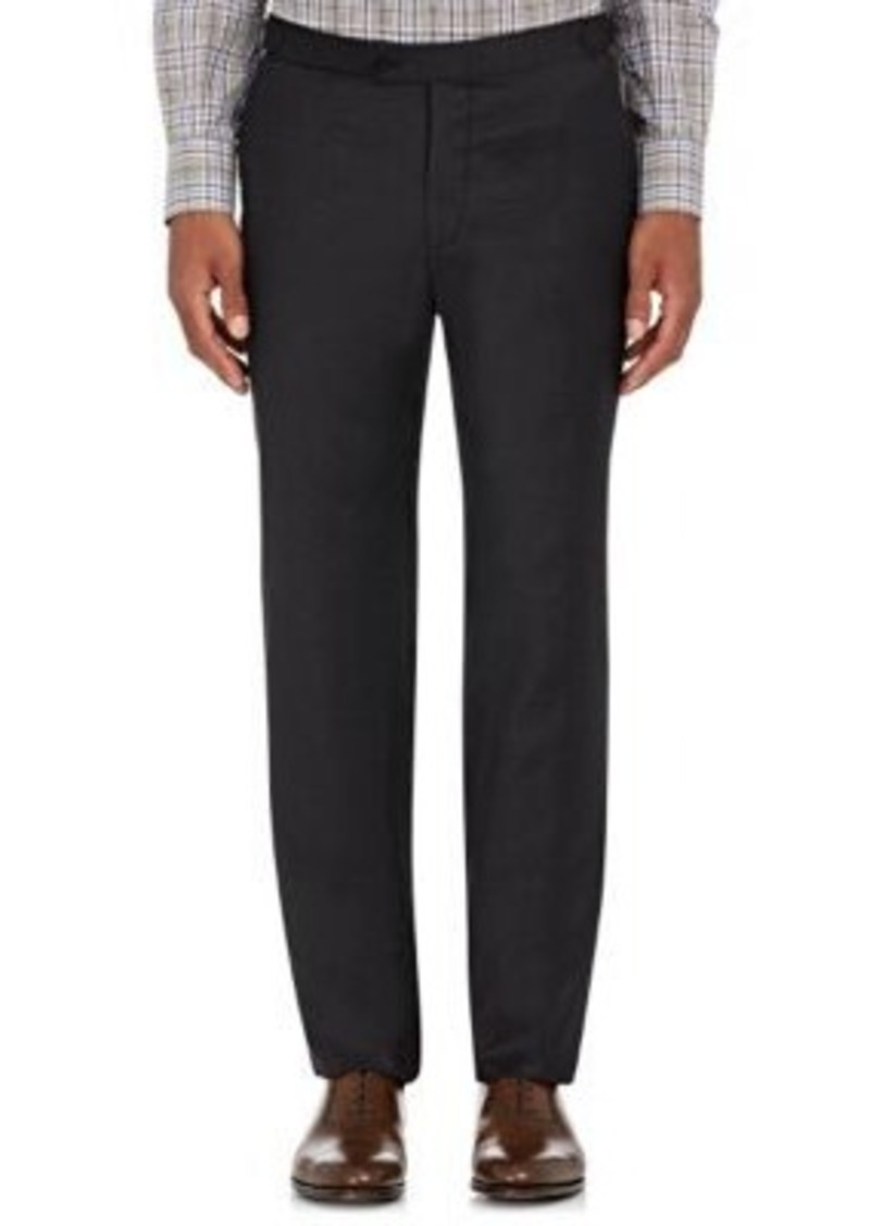 Isaia Men's Gregorio Suiting Flannel Trousers-Dark Grey Size 32