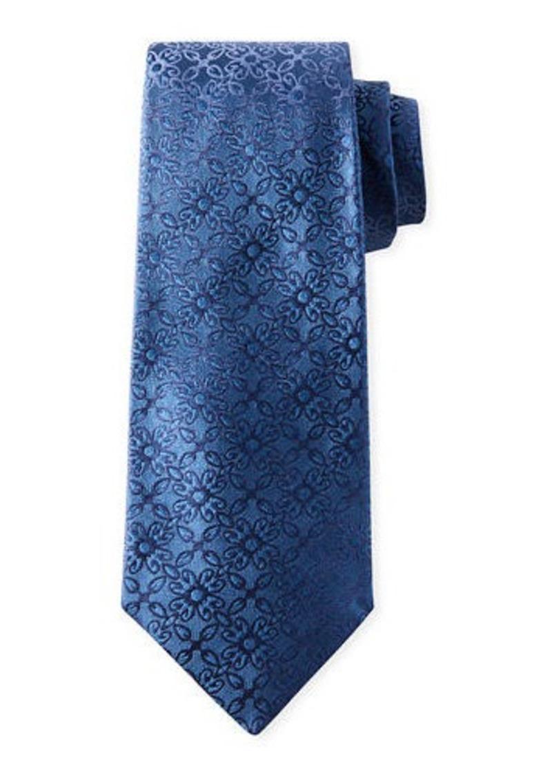 Isaia Men's Ornate Solid Silk Tie