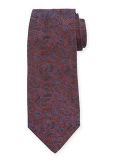 Isaia Men's Paisley Silk Tie