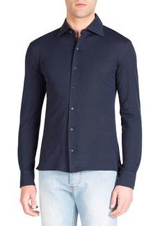 Isaia Men's Pique-Knit Sport Shirt