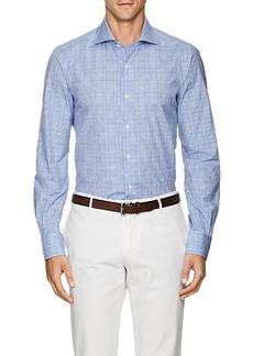 Isaia Men's Plaid Cotton Poplin Shirt