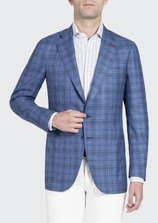 Isaia Men's Plaid Silk-Cashmere Sport Jacket