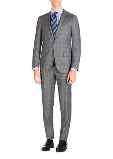 Isaia Men's Plaid Super 140s Two-Piece Suit
