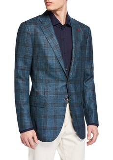 Isaia Men's Plaid Wool-Blend Sport Coat
