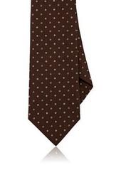 Isaia Men's Polka Dot Silk Seven-Fold Necktie