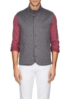 Isaia Men's Quilted Silk-Cotton Vest