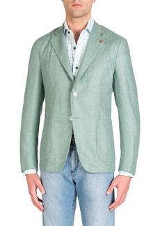 Isaia Men's Sage Silk Blazer
