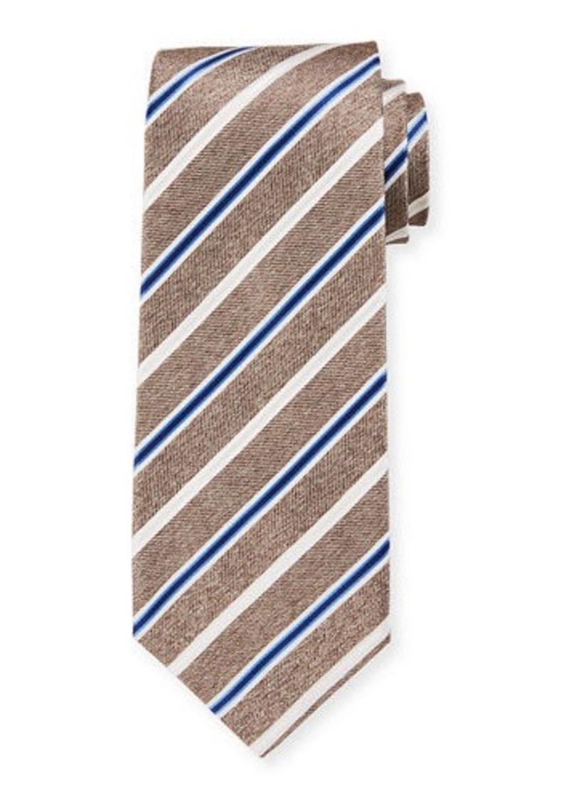 Isaia Men's Silk Multi-Stripe Tie
