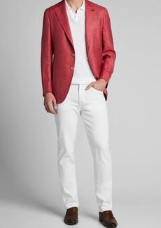 Isaia Men's Solid Wool-Blend Blazer