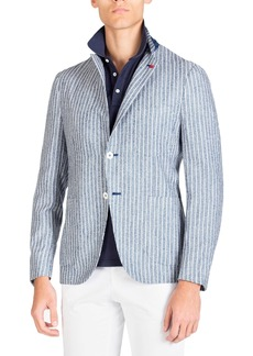 Isaia Men's Stripe Jacket
