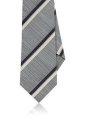 Isaia Men's Striped Silk-Cotton Necktie