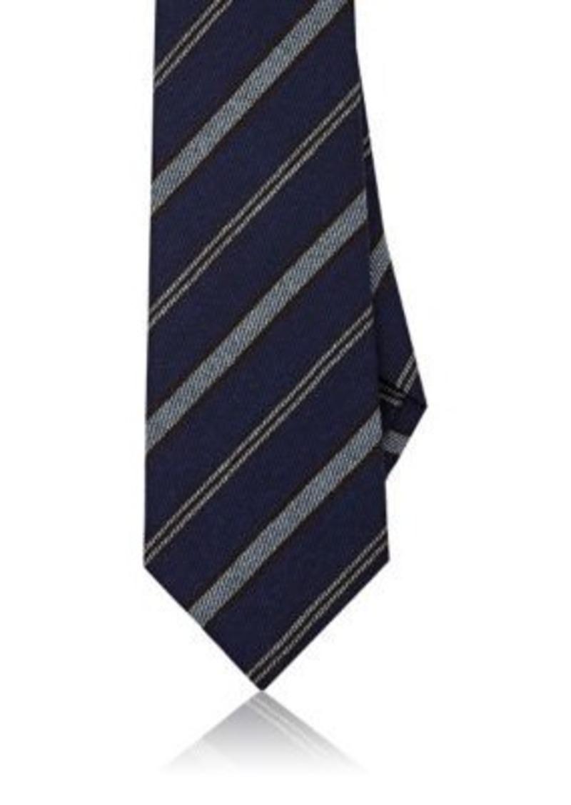 Isaia Men's Striped Wool-Silk Necktie