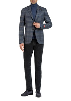 Isaia Men's Wool-Blend Check Sport Jacket