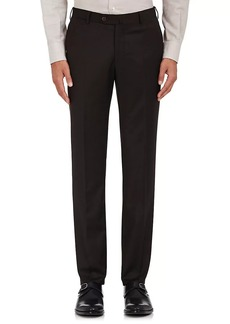 Isaia Men's Wool-Blend Flat-Front Trousers