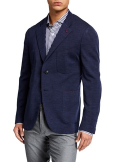 Isaia Men's Wool-Nylon Knit Blazer