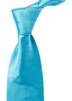 Isaia Metallic Blue Silk Tie