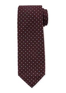 Isaia Micro-Dot Silk Tie