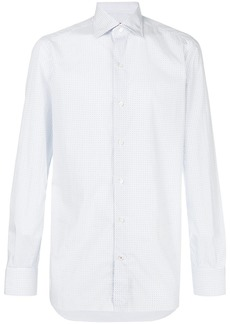 Isaia micro pattern shirt