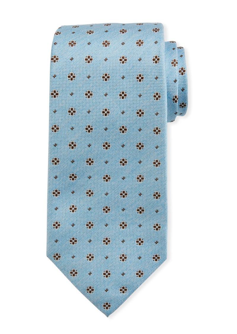 Isaia Mini Flower Silk Tie