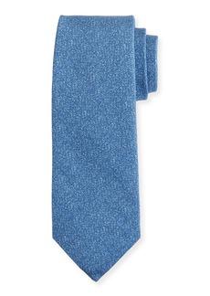 Isaia Mélange Silk-Cotton Tie
