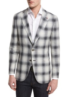 Isaia Ombre Plaid Two-Button Sport Coat