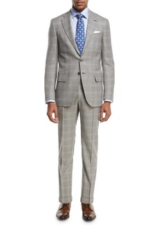 Isaia Plaid Super 130s Wool Two-Piece Suit