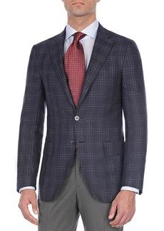 Isaia Plaid Wool-Blend Sport Coat