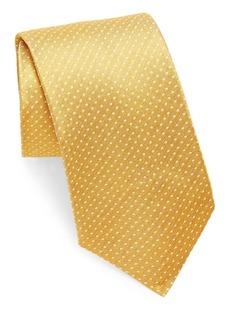 Isaia Polkadot Print Silk Tie