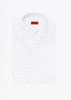 Isaia Printed Cotton Dress Shirt