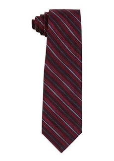 Isaia Printed Multi-Stripe Wool Tie