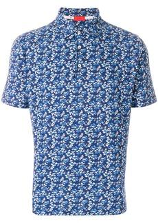 Isaia printed polo shirt