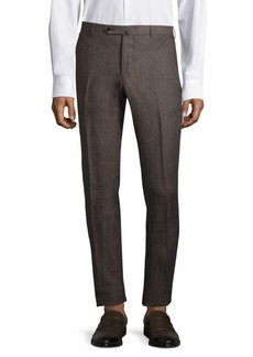 Isaia Regular—Fit Linen Pants