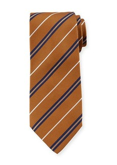 Isaia Rope-Stripe Silk Tie