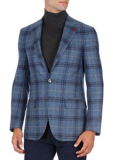 Isaia Sanita Glen Plaid Two-Button Sport Coat