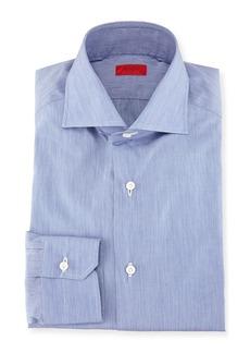 Isaia Slim-Fit Basic Solid Cotton Dress Shirt