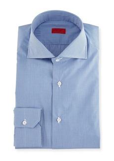 Isaia Slim-Fit Gingham Check Dress Shirt