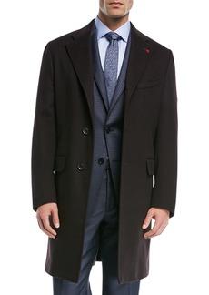 Isaia Solid Wool Top Coat