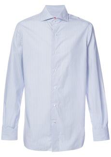 Isaia striped long sleeve shirt