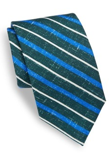 Isaia Striped Silk Tie