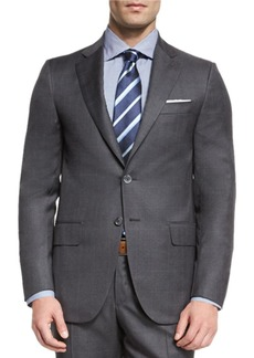 Isaia Super 130s Tonal Plaid Wool Two-Piece Suit