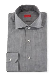 Isaia Textured Cotton Flannel Dress Shirt